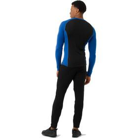 Smartwool Merino 200 Baselayer Longsleeve Herren bright blue-black